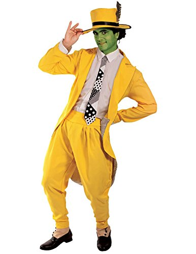 1940s Men's Costumes: WW2, Sailor, Zoot Suits, Gangsters, Detective Orion Costumes Mens Deluxe Manic Superhero Fancy Dress Costume Gangster Suit Yellow $61.69 AT vintagedancer.com