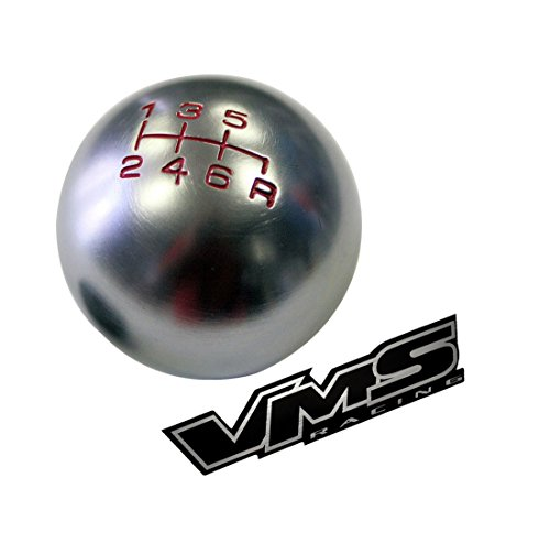 10x1.5mm Thread 6 speed Shift Knob in Gunmetal Grey Gray Silver Round Billet Aluminum for 2000-2009 02-09 Honda S2000