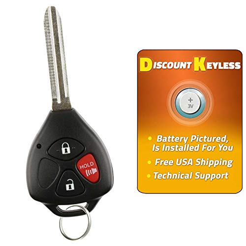 Discount Keyless Replacement Uncut Car Remote Fob Ignition Key For Toyota Rav4 Scion xB HYQ12BBY ()