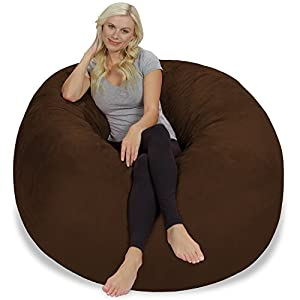 Chill Sack Bean Bag Chair: Giant 5' Memory Foam Furniture Bean Bag - Big Sofa with Soft Micro Fiber Cover - Chocolate