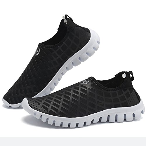 CIOR Quick-Dry Water Sports Shoes Men and Women's Multifunctional for Swim Walking Yoga Lake Beach Garden Park Driving Boating,SJC02,L.Black,45 3