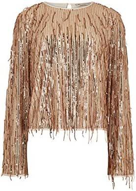 FG4 Blouses for Women Size 8 UK, Gold