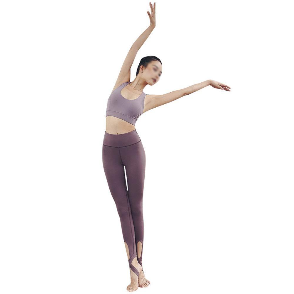Damen Fitness Sets Trainingsanzug Damen Sexy Solid Color Yoga Kleidung Schritt auf den Hüften Zwei Sätze von Sportbekleidung Home Leisure Gym Running Kleidung Workout Running Jogginganzüge