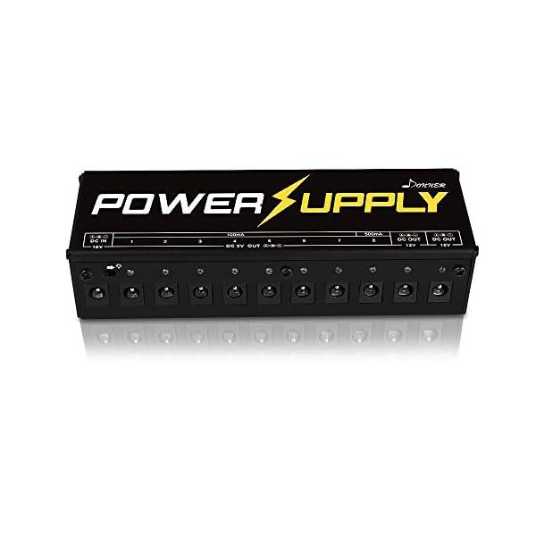 Donner Alimentatore multi-output isolati per Pedali Chitarre elettriche con Adattatore di Alimentazione e Cavi Versione A