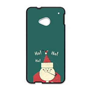 Popular Christmas Santa Claus Pattern Design HTC One M7 (Laser Technology) Plastic and PC Case, Cell Phone Cover