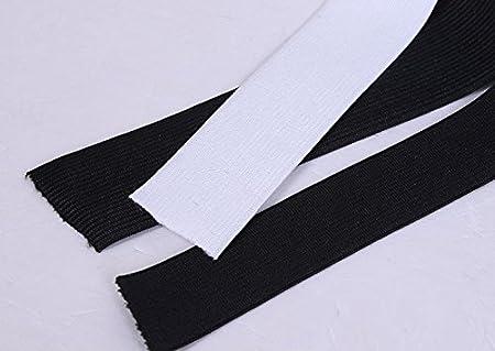 Bianco bianca Nero 11 metri 10 metri Lunghezza 3//4 2 cm Larghezza Cavo elastico Banda Elastica Corda elastica bungee Stretch pesante knit Elastico bobina