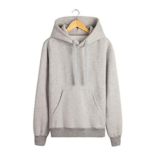 Maglione Allentato Autunno Uomo Solido E Di Colore Go Shopping Inverno Gray Da Con Easy Cappuccio zqRxHpE