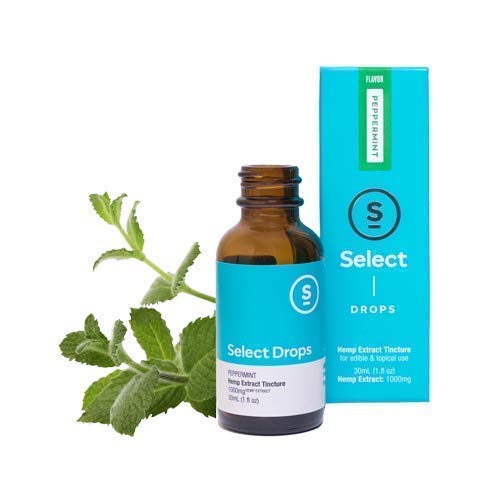 Select Drops – Organic Hemp Extract Tincture 1000mg 1 fl oz – Peppermint (Focus) -Hemp Oil for Pain Relief, Stress Support, Anti Anxiety, Sleep Supplements, Herbal Drops, Anti Inflammatory