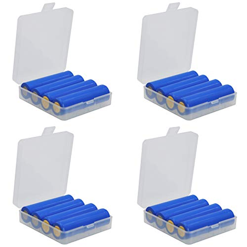 Whizzotech 18650 Battery Case Battery Storage Box Holder/Organizer/Container Lot of 4 (E Cig Organizer)