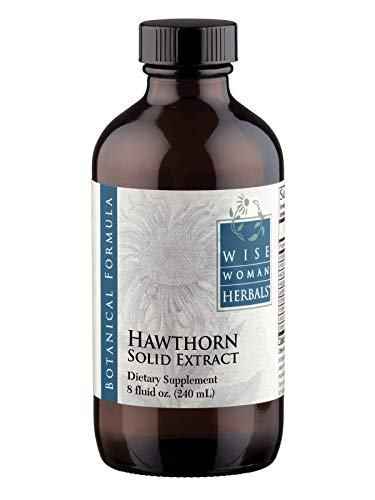 Wise Woman Herbals - Hawthorn Solid Extract - Supports Healthy Blood Pressure and Heart Function, All-Natural Supplement Promotes Cardiovascular Health and Muscles, Alcohol-Free - 8 oz (Best Hawthorn Berry Extract)