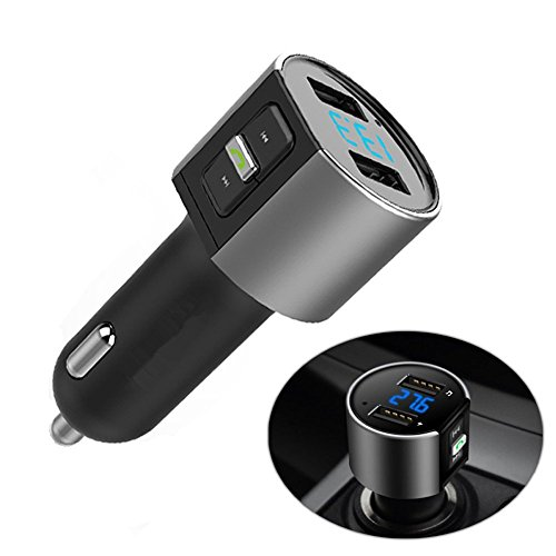 Electric Full Chassis Kit (Bluetooth FM Transmitter Car Kit Bluetooth Receiver Wireless In-Car Stereo Radio Adapter MP3 Player Bluetooth Hands-Free Calling for iPhone/ Samsung etc Dual USB Ports Charge 5V/3.4A total)
