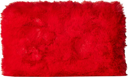 Red Evening Faux LOVE Womens Moschino Clutch Fur Yq8ISpx