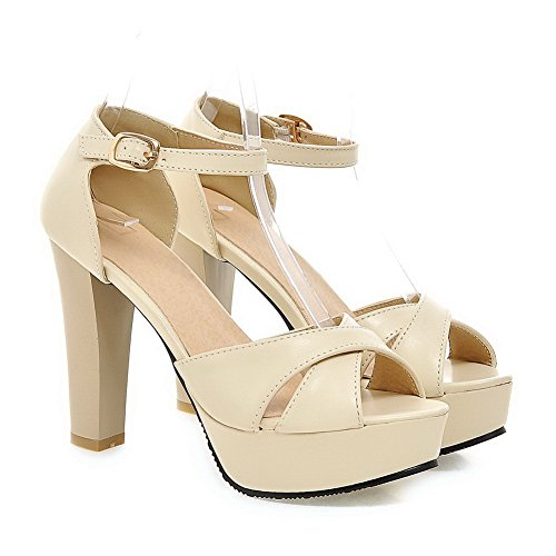 Ouvert AdeeSu Femme Beige Bout SLC04033 8T8wqygr6