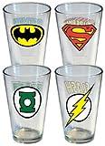 DC Comics Logos Pint Glass Set