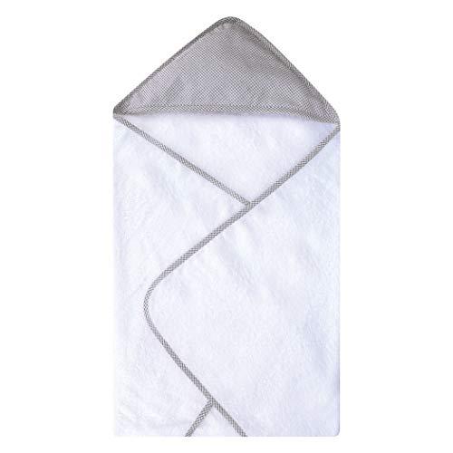 Trend Lab Gray Deluxe Hooded Towel, Gingham Seersucker