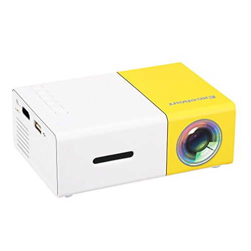 Excelvan YG300 Mini Portable LCD Pocket Projector 1080P Full HD Home Cinema Theater with USB/SD/AV/HDMI Input for DVD Video Game Home Entertainment Outdoor Movie