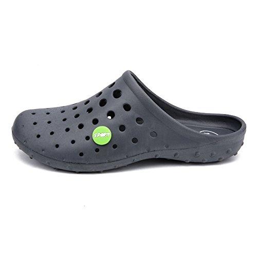 Dimensione fori a passante uomo Bianca shoes EU semi foro Scarpe da Color Pantofola trascinanti per per 40 Grigio con Jiuyue aeromobili tamburo U8gAxq8