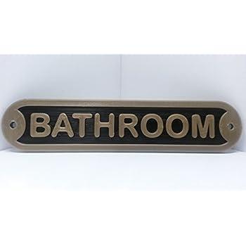 Amazon Com The Loo Water Closet Toilet Bathroom Door Sign