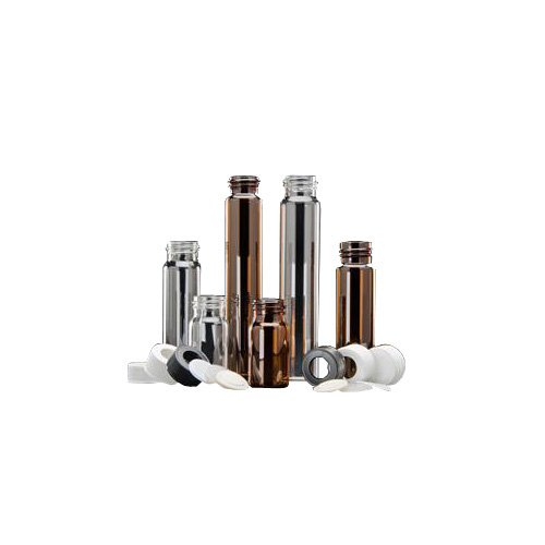 JG Finneran D0376-30 Borosilicate Glass Environmental VOA Vial, 30mL Capacity, Clear, 28mm Diameter x 72mm Length, 24-400mm Thread (Pack of 100)