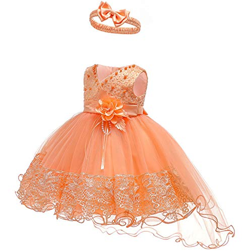 Infant Vestidos Baby Girl Clothes Baby Dress Butterfly Pearl Girl Wear Sleeveless Dress for Birthday Party Toddler Costume As picture4 -