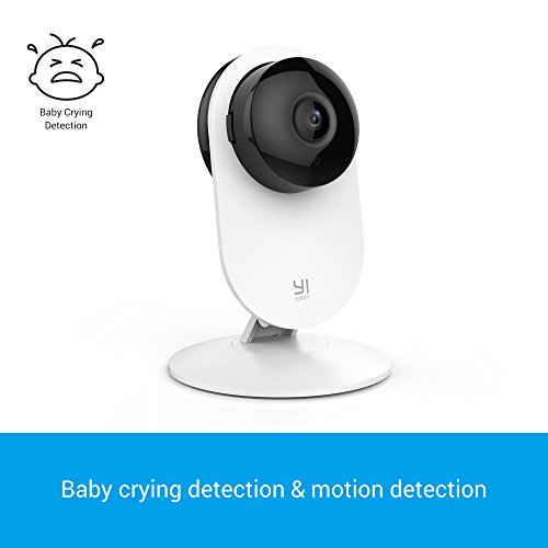YI 1080p Home Camera Wireless IP Security Surveillance System (US Edition) White