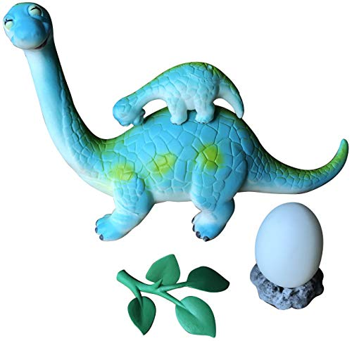 (LittleBoo Brachiosaurus Family, Dinosaur Toys for Boys and Girls, Great Jurassic World Toys as Gift, Baby Showers Toys, Baby Bath Toys, Party Favors to Kids)