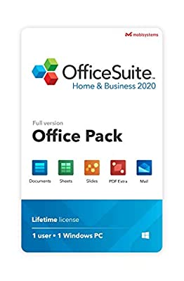 OffceSuite Home & Business 2020 - full license - Compatible with Microsoft® Office Word, Excel & PowerPoint® and Adobe PDF for PC Windows 10 8.1 8 7 (1PC/1User)