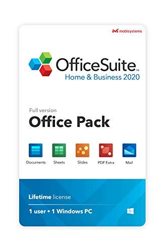OfficeSuite Home & Business 2020 - full license - Compatible with Microsoft® Office Word, Excel & PowerPoint® and Adobe PDF for PC Windows 10, 8.1, 8, 7 (1PC/1User) (Microsoft Business Software)