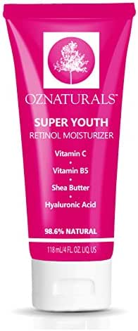 Super Youth Retinol Moisturizer - Reduce Appearance Of Wrinkles, Pore Size & Brown Spots - Improve Skin Tone, Renew Firmness, Elasticity, Thickness To The Skin For Luminosity and Glow
