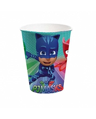 PJ Masks Paper Cup 260ml - Pack of 8 Gemma International 254792GEM-8