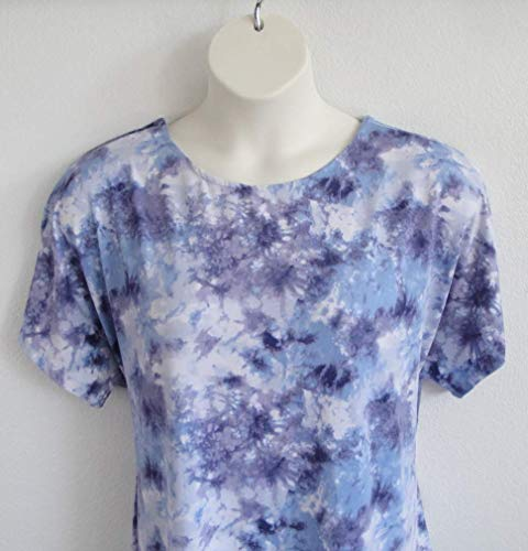 Shoulder Shirts Post Surgery Shirt ~ Shoulder, Breast Cancer, Mastectomy, Heart/Rehab - Physical Therapy/Adaptive Clothing/Hospice/Breastfeeding (Blue Tie-Dye) - Style Tracie