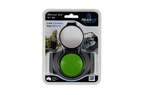 REARVIZ Bicycle ST-35 Rear View Mirror Unit, Fully Adjustable - [Green] by RearViz (Image #4)