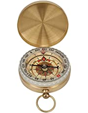 Vintage Pocket Compass Messing Horloge Type Lichtgevende Flip Kompas met Cover voor Outdoor Bergbeklimmen Wandelen Camping Jacht