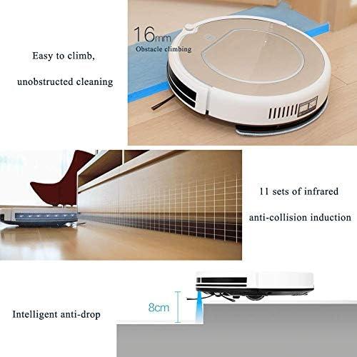 Aspirateur robot, robot aspirateur automatique de charge, sans fil Robot silencieux automatique intelligent Sweeper Avec 360 ° Smart Sensor Protectio, CAPT.CHUTE
