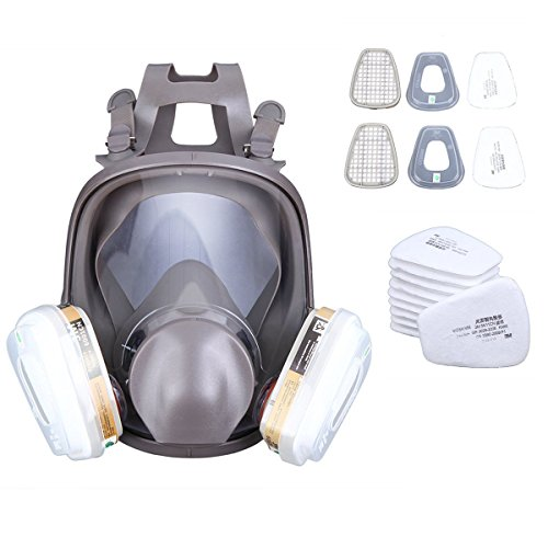 PanelTech 6800 Full Face Gas Mask Filter Respirator Anti Paint Spray Chemical Pesticide Harmful Gas Respiratory Protection