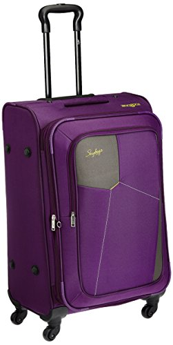 Skybags Rubik Polyester 68 cms Purple Softsided Suitcase (STRUBW68PPL)