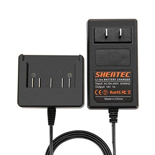 Shentec 18V Lithium-Ion Slide-in Style Battery Charger Compatible with Bosch 18V BAT609 BAT609G BAT618 BAT618G BAT619 BAT619G BAT610G 2607336169 2607336170 2607336236 2607336091 2607336092 ()