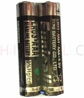 Hillflower 200 Piece AAAA LR61 EN96 Bulk 0/% Hg 1.5V Heavy Duty Carbon Zinc New Premium Quality Battery