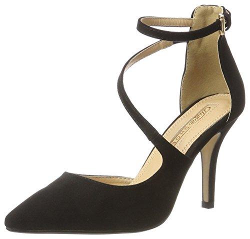 Bhwmd Tacco T Imi Donna Nero 315349 col Buffalo Cinturino con 01 a Shoes Black Suede 00 Scarpe qB0wwE7n