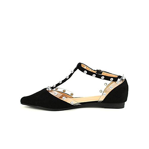 Chaussures Moda Noire Cendriyon Ballerine Noir Clous Laura Femme BCqxOtw7n