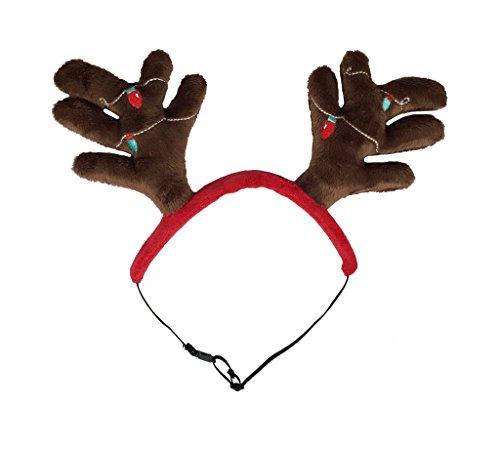 (Outward Hound 11001 Christmas Holiday Antler Headband, Medium)