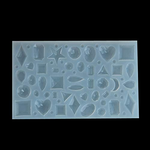 ld DIY Mold Tool Pendant Earrings Making Jewelry Hand Craft Resin Necklace Casting Mould Silicone Form Mold ()