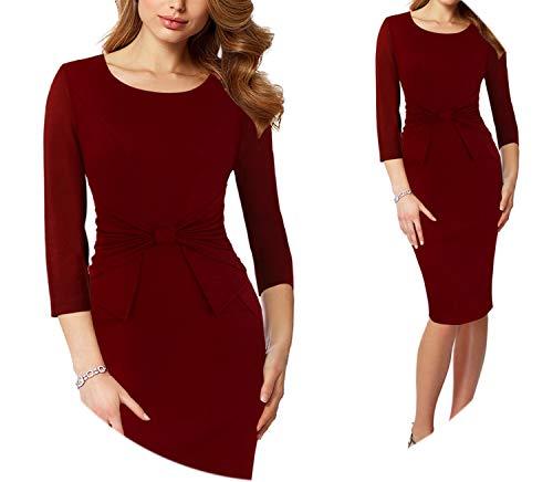 Vintage Print Ruffle Vestidos Bodycon Office Business Party Sheath Women Dress,Red 2,Xs