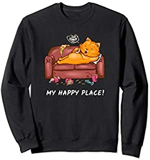 Cat My Place  Couch Lover Fast Food Loafer Sweatshirt T-shirt | Size S - 5XL