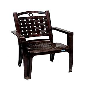 Nilkamal 2196 Plastic Chair (Brown)