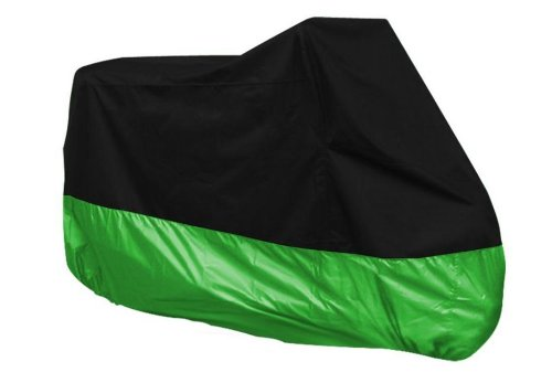 SAMGU - Outdoor Indoor Motorcycle Motorbike Water Resistent Waterproof Rain UV Protective Cover Black/Green XL 245x105x125cm