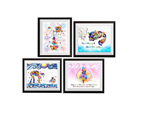 Uhomate 4 pcs Set Alice in Wonderland Cheshire