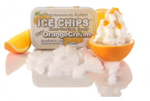 ICE CHIPS Orange Cream Xylitol Mints - Pack of 3