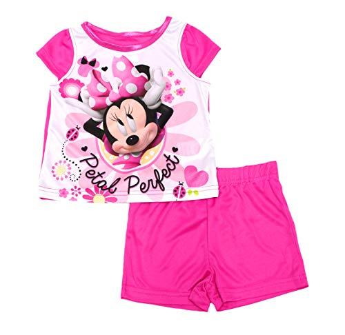 Disney Minnie Mouse Baby Girl 2-Piece Pajamas - Fuchsia/Solid, 12M