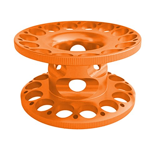 - Homyl Aluminum Alloy Scuba Diving Finger Reel Guide Line Spool - Compact, Lightweight, Corrosion Resistant, Durable - Orange